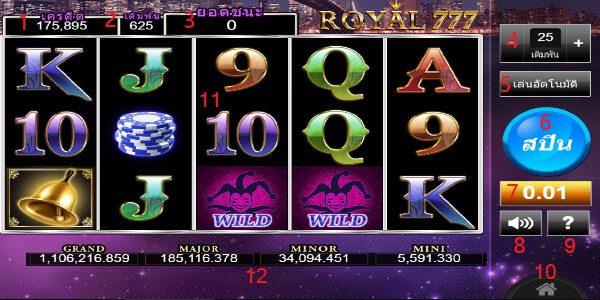 How to play royal777 slot