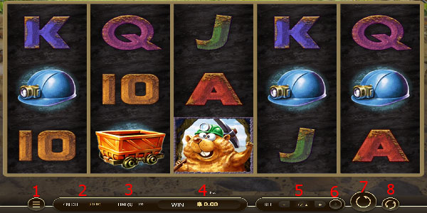 Game details page Lucky Miner Slot