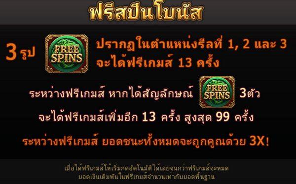 Free spins bonus Dragon King slot